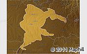 Physical 3D Map of Seke, darken