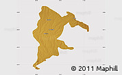 Physical Map of Seke, cropped outside