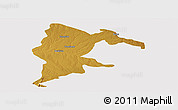 Physical Panoramic Map of Seke, cropped outside