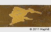 Physical Panoramic Map of Seke, darken