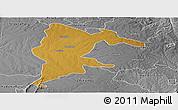 Physical Panoramic Map of Seke, desaturated