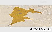Physical Panoramic Map of Seke, lighten