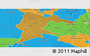 Physical Panoramic Map of Seke, political outside