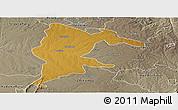 Physical Panoramic Map of Seke, semi-desaturated