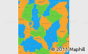 Political Simple Map of Mashonaland East