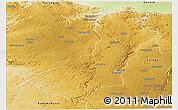 Physical Panoramic Map of Makonde