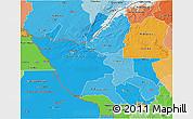 Political Shades 3D Map of Matabeleland North