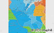 Political Shades Map of Matabeleland North
