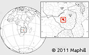 Blank Location Map of Nkayi, within the entire country