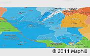 Political Shades Panoramic Map of Matabeleland North