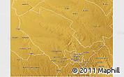 Physical 3D Map of Umguza