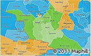 Political Shades 3D Map of Matabeleland South