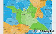 Political Shades Map of Matabeleland South