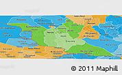 Political Shades Panoramic Map of Matabeleland South