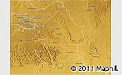 Physical 3D Map of Umzingwane