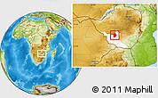 Physical Location Map of Umzingwane, highlighted parent region