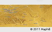 Physical Panoramic Map of Umzingwane