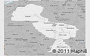 Gray Panoramic Map of Midlands