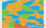 Political Panoramic Map of Midlands