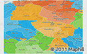 Political Shades Panoramic Map of Midlands