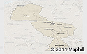 Shaded Relief Panoramic Map of Midlands, lighten