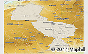 Shaded Relief Panoramic Map of Midlands, physical outside