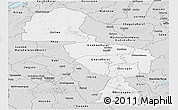 Silver Style Panoramic Map of Midlands