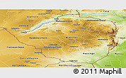 Physical Panoramic Map of Zimbabwe
